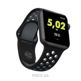Contrato Ambigüedad acceso  Смарт-часы Apple Watch Series 3 Nike+ (GPS) 42mm Silver Aluminum Case with  Pure Platinum/Black Band (MQME2): Купить в Ужгороде - Сравнить цены на  Price.ua