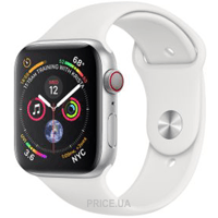 Фото Apple Watch Series 4 (GPS + Cellular) 40mm Silver Aluminum Case with White Sport Band (MTUD2)