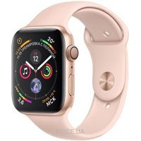 Фото Apple Watch Series 4 GPS 44mm Gold Aluminum Case with Pink Sand Sport Band (MU6F2)