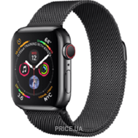 Фото Apple Watch Series 4 (GPS + Cellular) 40mm Space Black Stainless Steel Case with Space Black Milanese Loop