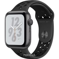 Фото Apple Watch Nike+ Series 4 GPS 44mm Gray Alum. w. Anthracite/Black Nike Sport b. Gray Alum. (MU6L2)