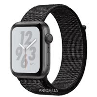 Фото Apple Watch Nike+ Series 4 GPS 44mm Gray Alum. w. Black Nike Sport l. Gray Alum. (MU7J2)