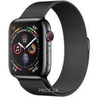 Фото Apple Watch Series 4 GPS + LTE 44mm Black Steel w. Black Milanese l. Black Steel (MTX32)