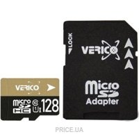 Фото Verico 128GB MicroSDXC UHS-1 Class 10 + SD adapter
