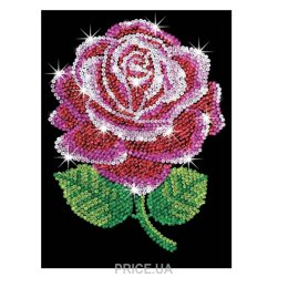 Sequin Art BLUE Red Rose (SA1001)