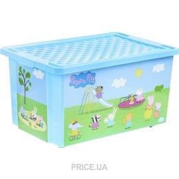 0b22c63ba31c3 ... корзину для игрушек Little Angel Ящик для хранения X-BOX Свинка Пеппа